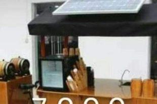 عربة طعام هندي تعمل بالطاقة الشمسية