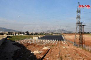 محافظة حماة السوريه تنشئ أكبر محطة طاقة شمسية مربوطة علي الشبكة