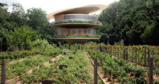 منزل يحاكي زهرة دوّار الشمس لجمع الطاقة الشمسية