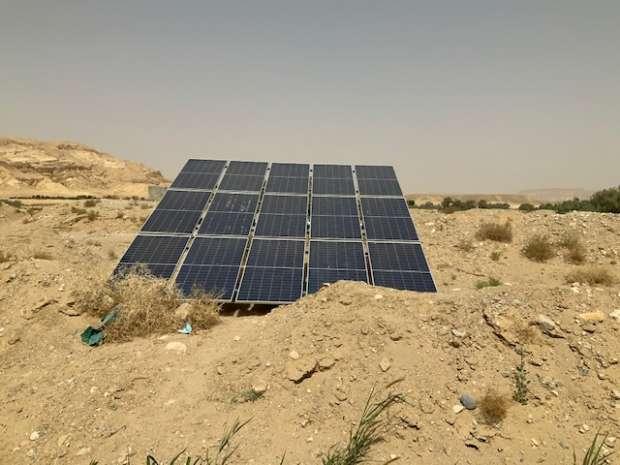 تفتتح جنوب سيناء مشروع استخراج مياه الآبار عن طريق الطاقة الشمسية
