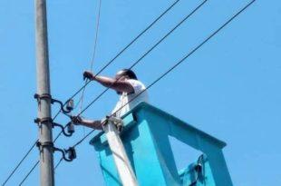 سرقة أسلاك الكهرباء